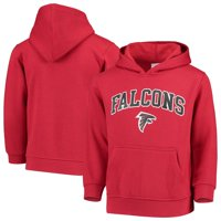 Youth Red Atlanta Falcons Team Fleece Pullover Hoodie