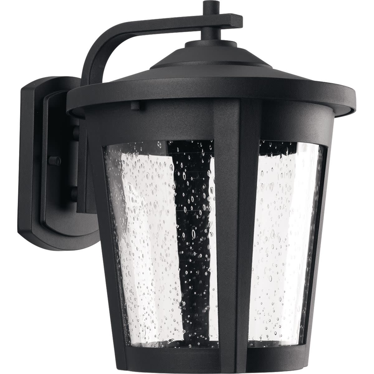 """Progress Lighting P6079-LED East Haven LED 1 Light 12"""" Tall Outdoor Wall Sconce with Seeded Glass Shade"""