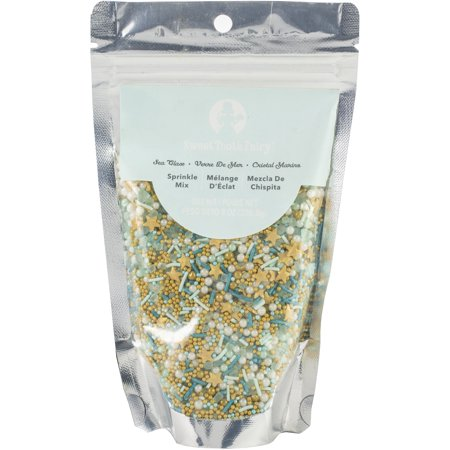 Sweet Toppings (Sweet Tooth Fairy Born To Sparkle Bulk Sprinkles 8Oz-Sea Glass Mix )