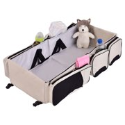 Costway 3 In 1 Portable Infant Baby Bassinet Diaper Bag Changing Station Ny Travel Image 5