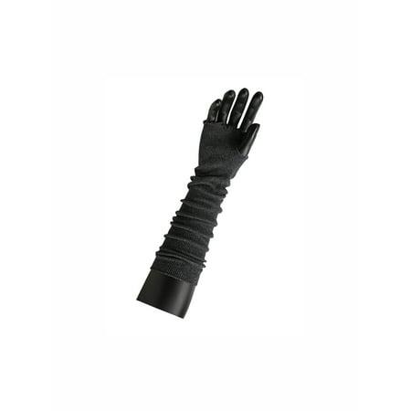 Women Elbow Length Stretchy Thumbhole Arm Warmer Fingerless Gloves