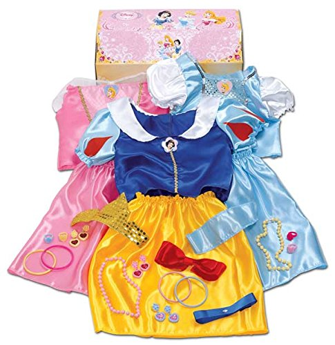 Disney Princess 27 Piece Dress Up Trunk with Accessories Ariel, Rapunzel, & Belle. by Jackks