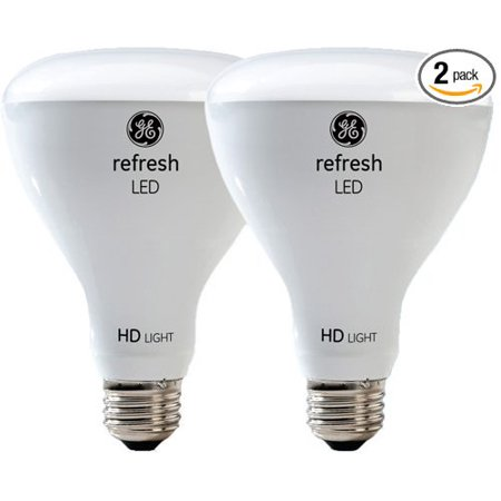 68431 LED Refresh HD 10-watt (65-watt Replacement), 650-Lumen R30 Light Bulb with Medium Base, Daylight, 2-Pack, Refresh HD light offers a cool.., By GE Lighting,USA