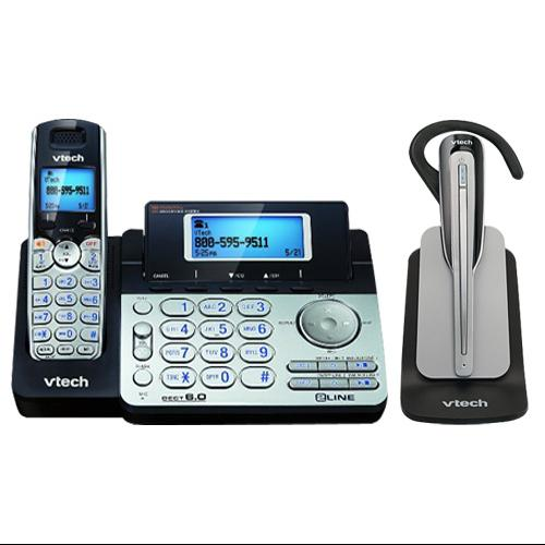 VTech DS6151 + IS6100 Cordless Phone System W  2-Line Operation by VTech