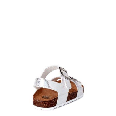 Wonder Nation Holographic Footbed Sandal (Toddler Girls)
