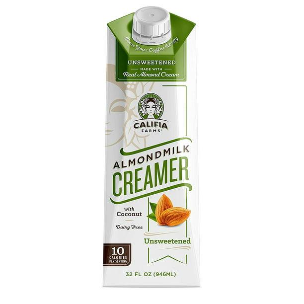 Califia Farms Unsweetened Almondmilk Coffee Creamer with ...