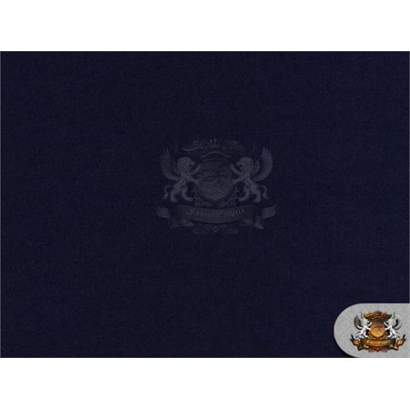 Polyester Cotton Broadcloth NAVY BLUE Fabric / 60