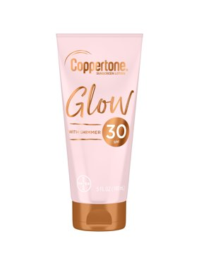 Coppertone Glow SPF 30 Sunscreen Lotion with Shimmer, 5 fl oz