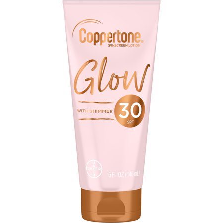 Coppertone Glow SPF 30 Sunscreen Lotion with Shimmer, 5 fl