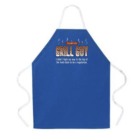 Attitude Apron Grill Guy Apron  Dark Blue  One Size Fits Most