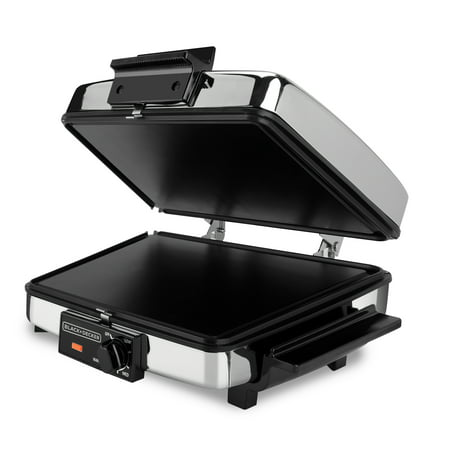 BLACK+DECKER 3-in-1 Waffle Maker & Indoor Grill/Griddle, Stainless Steel, G48TD