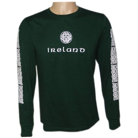 - Irish Celtic Design Shirt, Celtic Knot Design, Long Sleeve, Small, Green