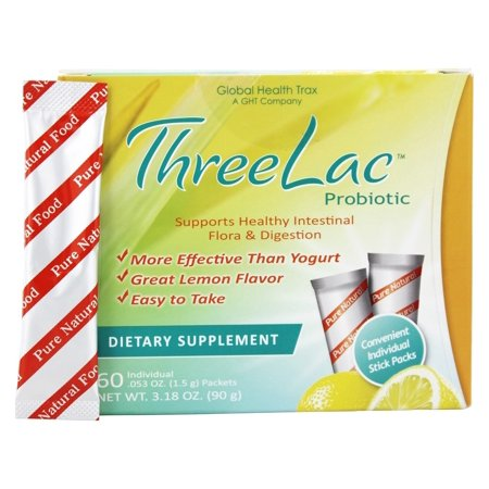 Global Health Trax (GHT) - ThreeLac probiotique arôme naturel de citron - 60 Packet (s)