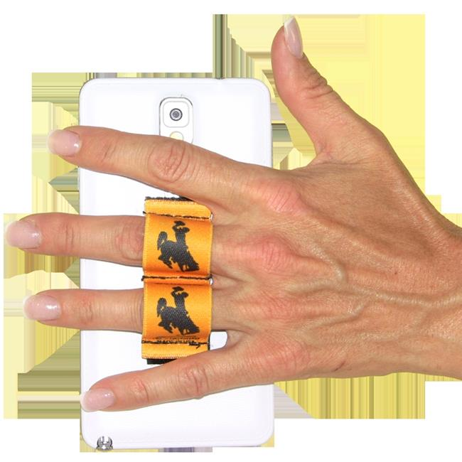 LAZY-HANDS 201563 2-Loop Phone Grip-Fits Most, Brown Wyoming Cowboy with Gold Background - image 1 de 1