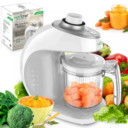 NutriChef PKBFB18 - Baby Food Maker - Electric Baby Food Processor, Blender & Food Steamer with Puree Pulse