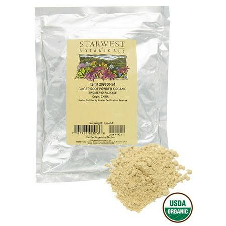 - Starwest Botanicals - Bulk Ginger Root Powder Organic - 1 lb.