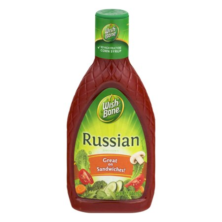 (3 Pack) Wish-Bone Salad Dressing, Russian, 15 Fl Oz