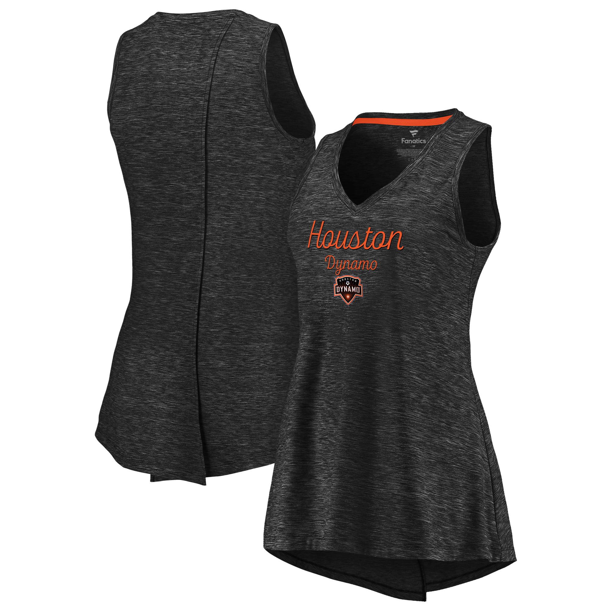Houston Dynamo Fanatics Branded Women's Premier Obvious Style V-Neck Tank Top - Black