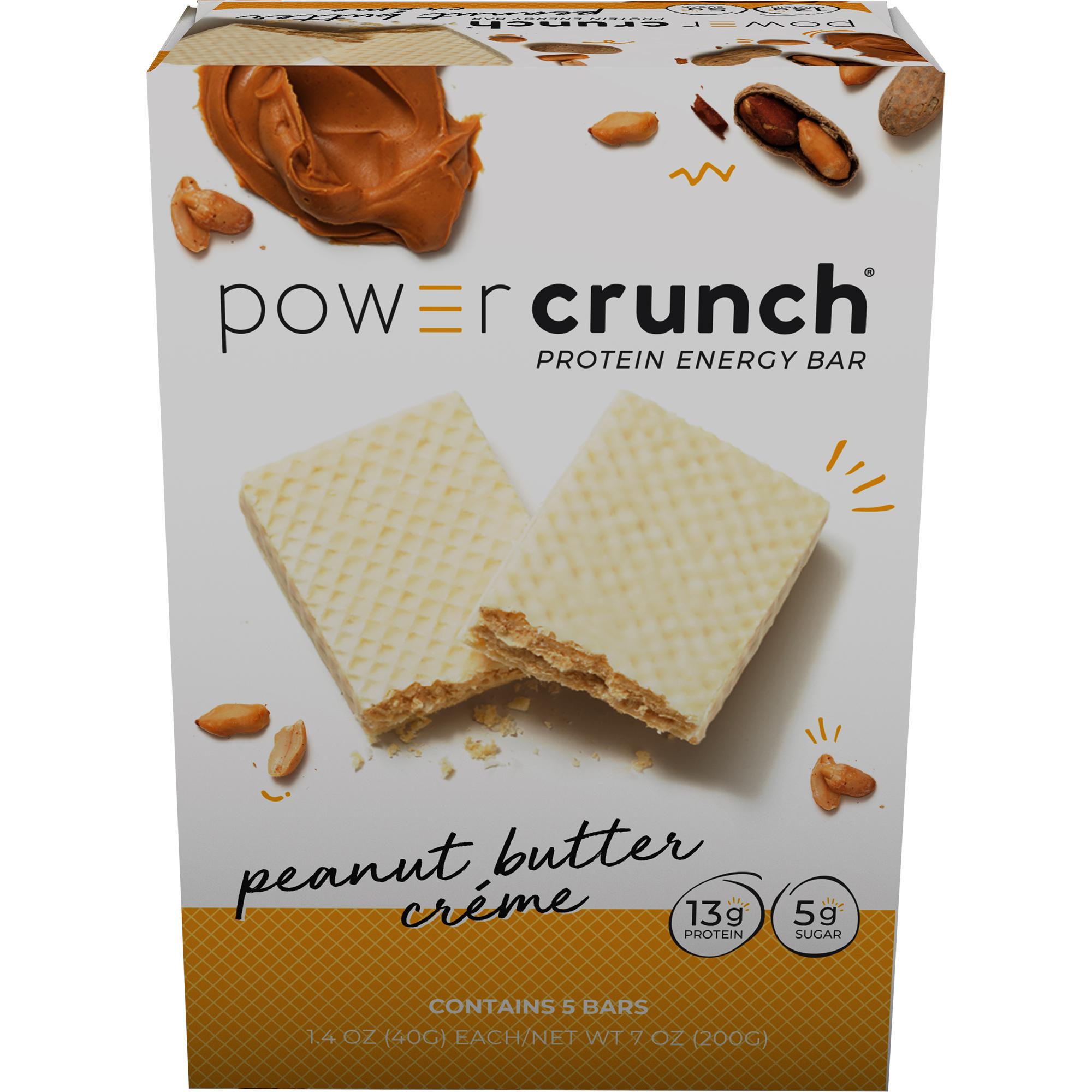Power Crunch Protein Energy Bar, Peanut Butter Cream, 13g Protein, 5 Ct