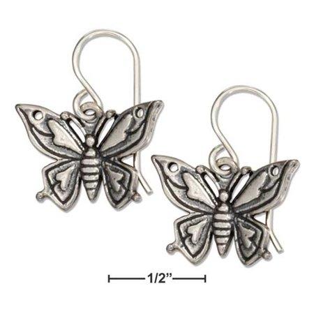 Sterling Silver Butterfly Earrings - image 1 de 1