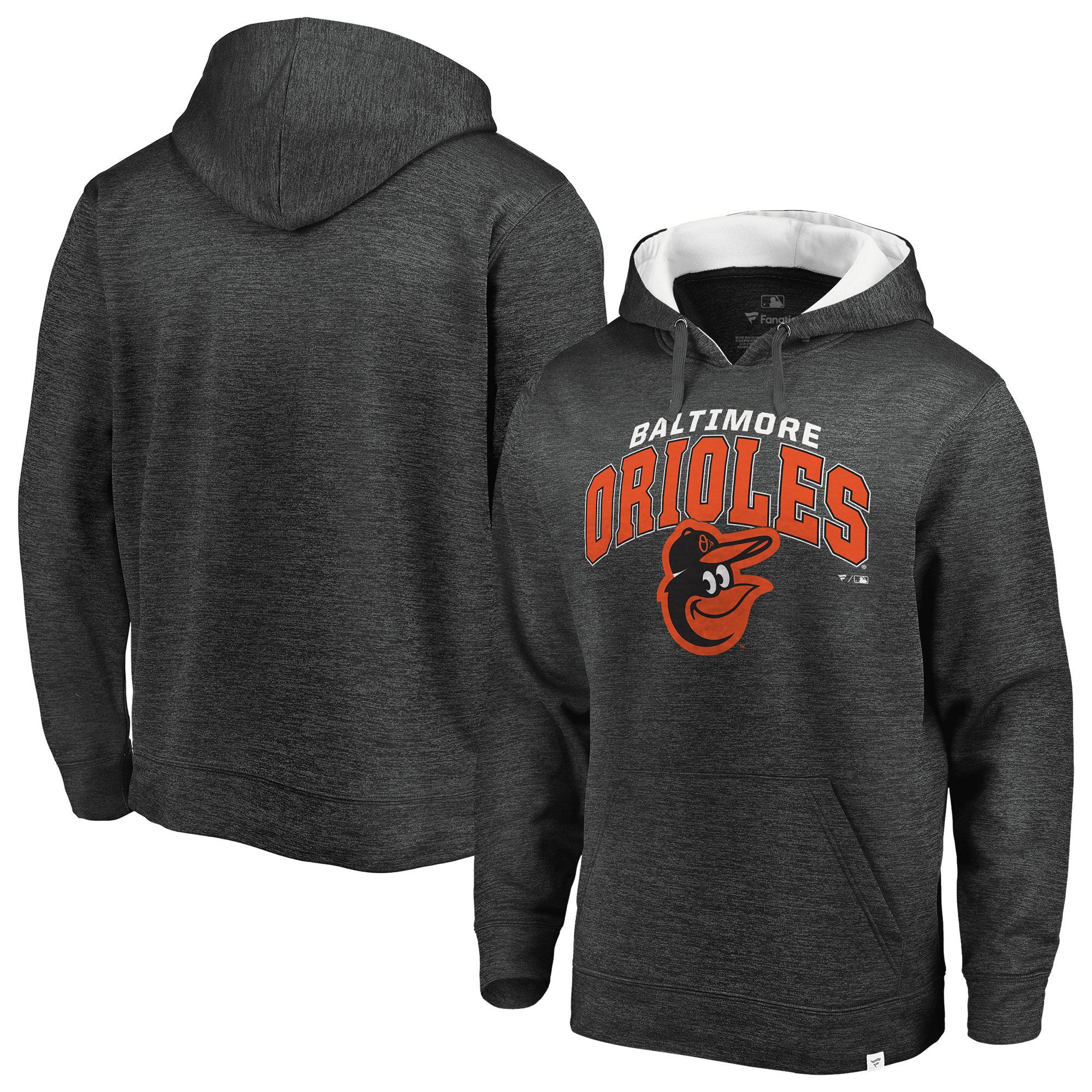 Baltimore Orioles Fanatics Branded Steady Fleece Pullover Hoodie - Gray