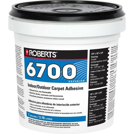 Indoor Outdoor Carpet Turf Adhesive 1 Gal. Plywood Fiberglass Concrete (Best Way To Remove Carpet Glue From Concrete Floor)
