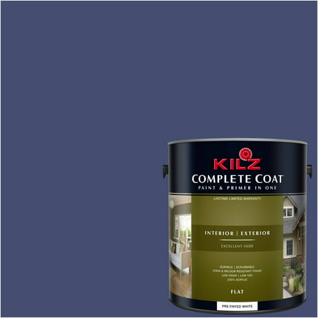 KILZ COMPLETE COAT Interior/Exterior Paint & Primer in One #RB290-02 Best in (Best Paint For Sidewalks)