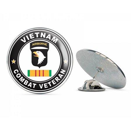 US Army 101st Airborne Division Vietnam Combat Veteran Metal 0.75