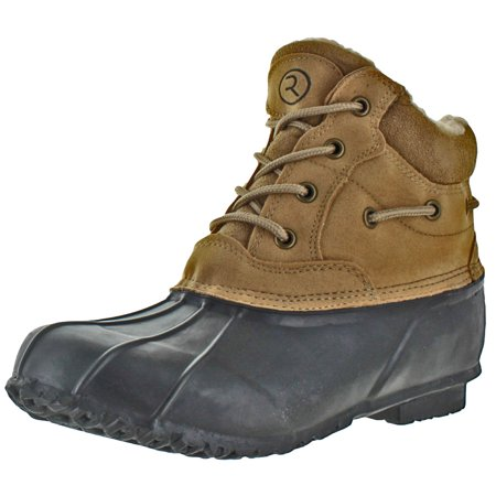 - Revenant-4 Men's Duck Toe Snow Boots Winter Cold Weather Sherpa Lined Waterproof