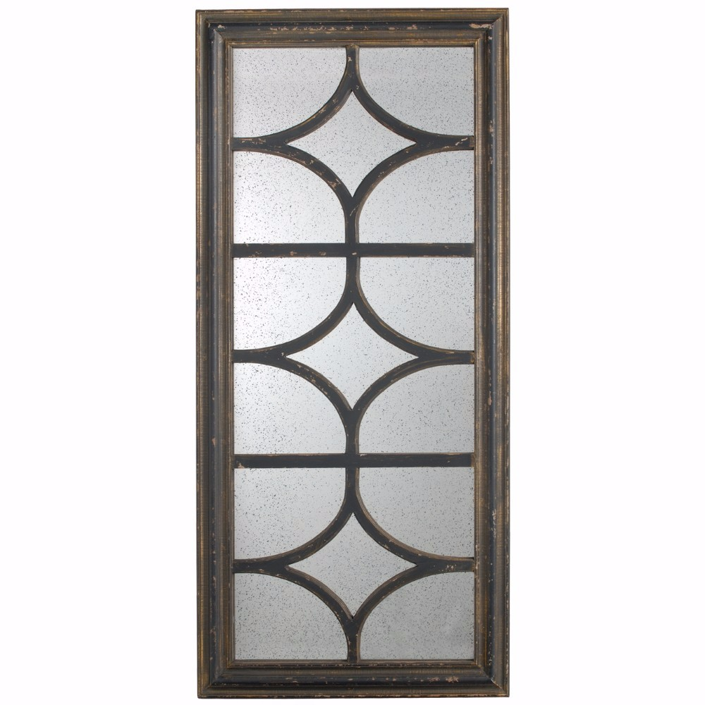 Rustic and Contemporary Glister Rectangular Mirror by Benzara