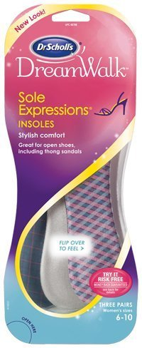 Dr. Scholls Dream Walk Sole Expressions Insoles 3 Pairs Womens Size 6-10 by Dr. Scholl's