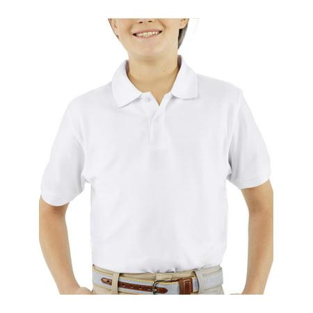 8bc1fefae George - Boys School Uniforms Short Sleeve Pique Polo Shirt ...