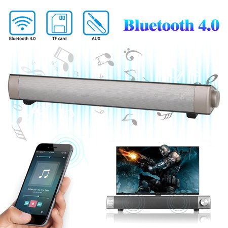 Soundbar, EEEKit Bluetooth Speaker Sound Bar with Built-in Subwoofer Bluetooth 4.0 Version Wireless Audio Speaker for TV Home Theater,