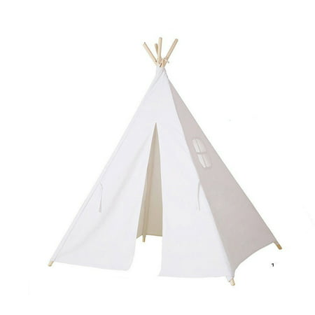 Classic Tent (On Clearance White Teepee Tent Portable Classic Toddler Kids Children Playhouse Sleeping Backdrop Camping Indoor Outdoor)