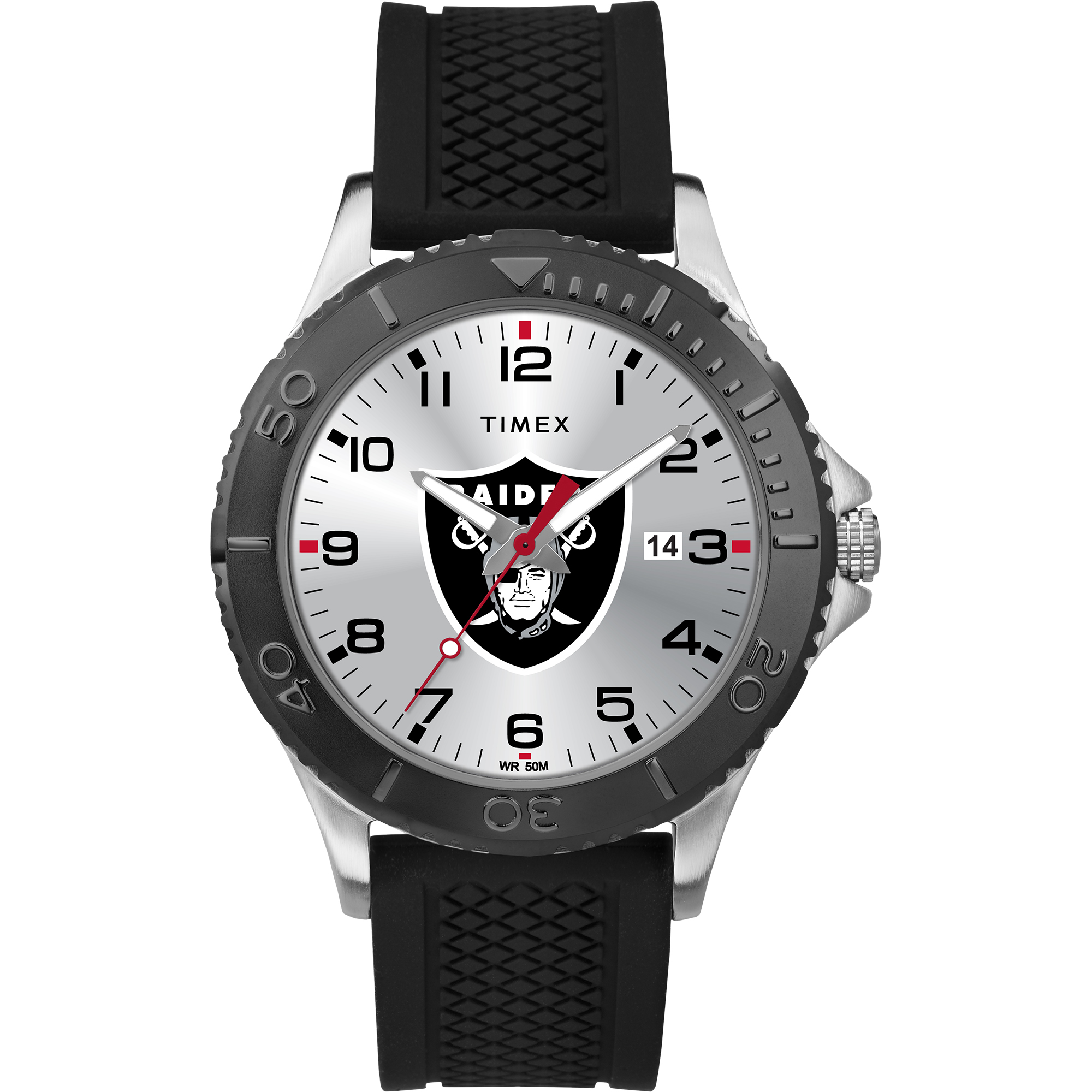 Timex - NFL Tribute Collection Gamer Black Men's Watch, Oakland Raiders