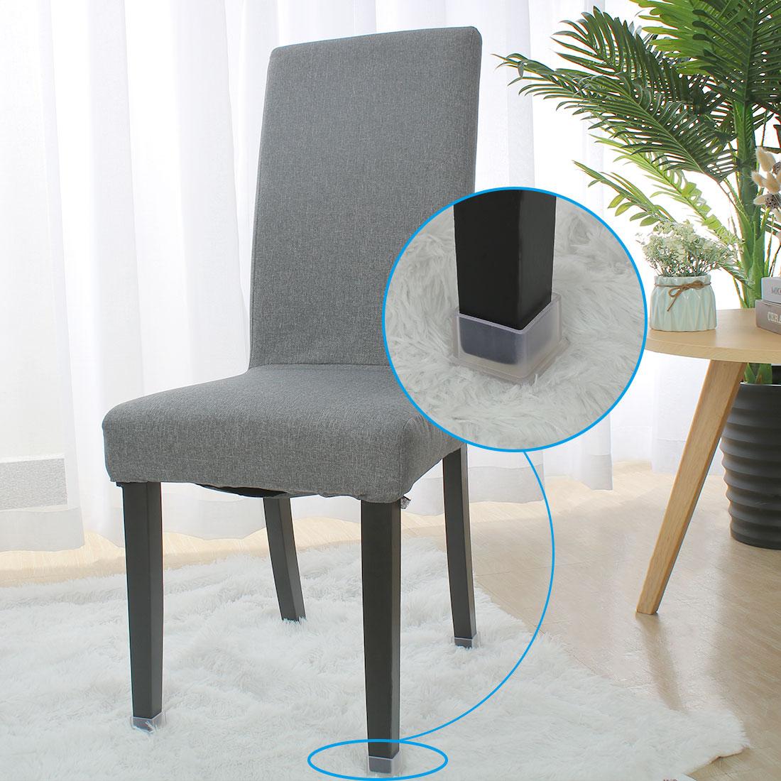 "Clear Chair Leg Caps Feet Furniture Floor Protector 3pcs 1.50"" x 1.50""(38*38mm) - image 1 de 7"
