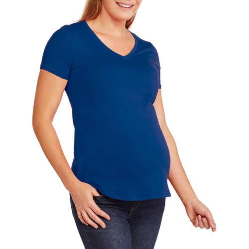 Faded Glory Maternity Short Sleeve V-neck Tee