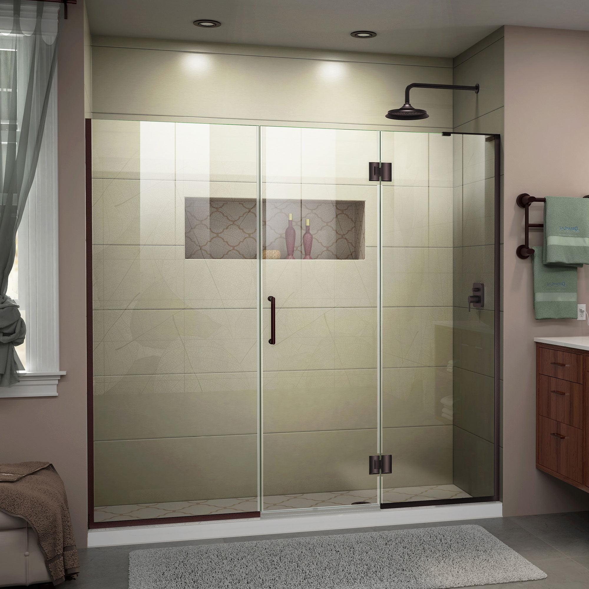 Dreamline Unidoor X 72 72 1 2 In W X 72 In H Frameless Hinged Shower Door In Chrome