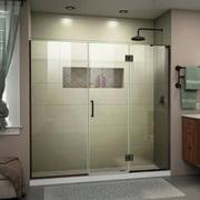 DreamLine Unidoor-X 68-68 1/2 in. W x 72 in. H Frameless Hinged Shower Door in Oil Rubbed Bronze