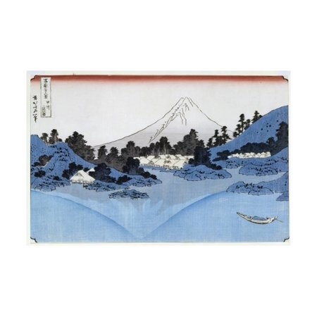 Mount Fuji Reflected in Lake Misaica, from the Series