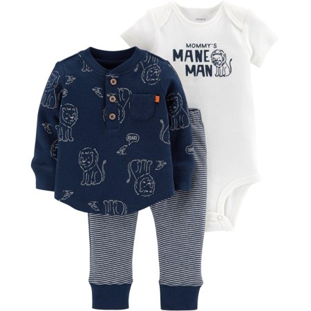 Carters Baby Boys 3-pc. Mommy's Mane Man Layette Set ()