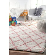 nuLOOM Machine-Made Nelda Trellis Kids Shag Area Rug