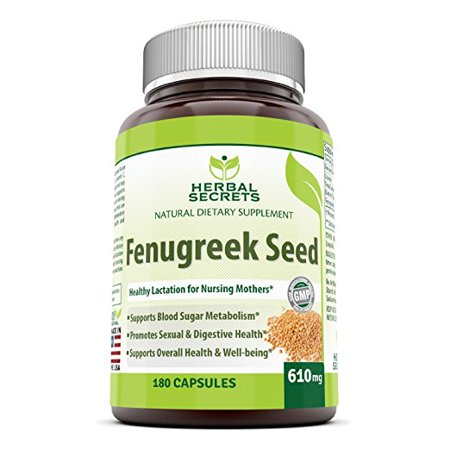 Herbal Secrets Fenugreek Seed 610 Mg 180