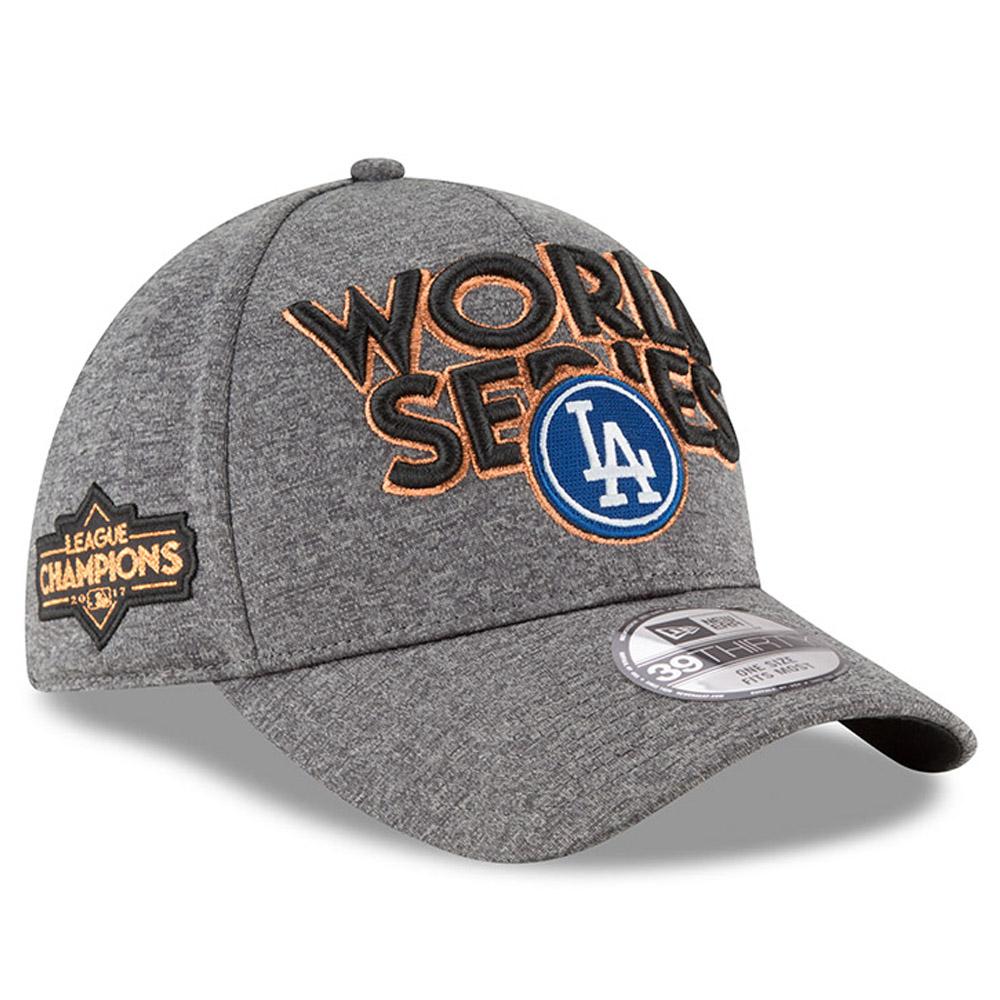 Los Angeles Dodgers New Era 2017 National League Champions Locker Room 39THIRTY Flex Hat - Heather Gray - OSFA