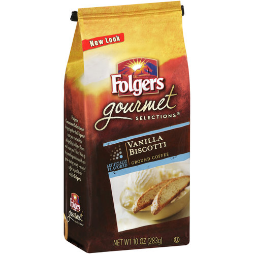 Folgers Gourmet Selections Vanilla Biscotti Ground Coffee, 10 oz
