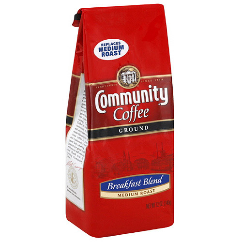 Community Coffee Breakfast Blend Ground Coffee, 12 oz (Pack of 6)