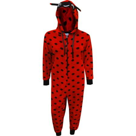 Red Ladybug Hooded Onesie Pajama