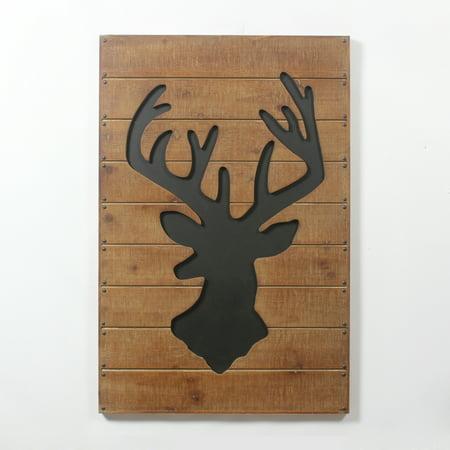 Deer Silhouette Wooden Wall Art Decor Walmart Canada
