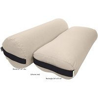 Yoga Bolster Round Cotton - Natural