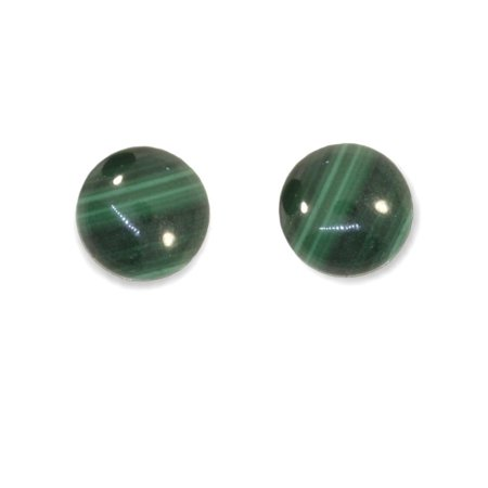 Ball Stud Earrings Green Malachite Stud Earrings Stainless (Azurite Malachite Earrings)